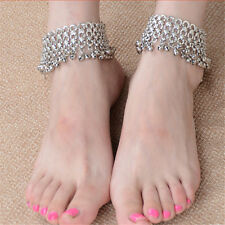US 1 Pair Gypsy Indian Bell Charm Ankle Bracelet Anklet foot Chain Belly Dance