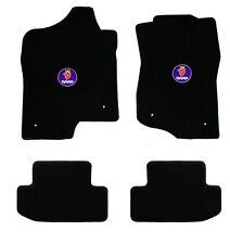NEW! black floor mats 1999-2003 Saab 93 9-3 circle logo emblem convertible 4 pc