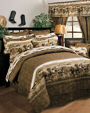 Wild Horses - Country Western Theme - 8 Pc Full Comforter Bedding Set