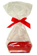 10 X MINI San Valentino Regalo KIT-CUORI ROSSI VASSOIO in cartone, CELLO BAG & Bow