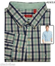 IZOD NEW Gulf Stream Long Sleeve Tatersall Plaid Cotton Shirt Big Mens 2XL QCO