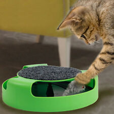 Alive Funny Pet Cat Rolling Mouse with Scratch Pad Entertainment Amusement Toy