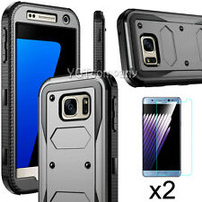 Slim Hybrid Armor Hard Protective Case Cover + Tempered Glass Screen Protector