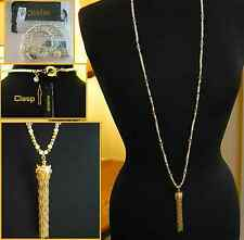 NEW MIMCO DISCOVERY TASSEL NECKLACE PENDANT in PEARL+ Dustbag RRP $159 SALE $79
