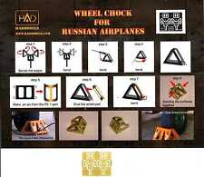 Hungarian Aero Decals 1/72 PHOTO ETCH WHEEL CHOCKS FOR RUSSIAN AIRCRAFT