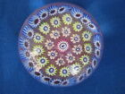 JOHN DEACONS CONCENTRIC MILLEFIORI PAPERWEIGHT: Bird Center, Pink Core, 2 in.