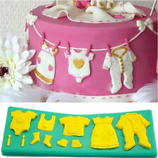 Fondant Cake Silicone Mold Mould Making Baby Clothes Shape Cupcake Decorating