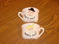 TILSO MOM & POP HALF CUPS MARKED 53/20 JAPAN