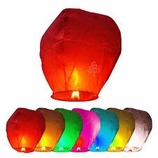 20Pcs MingSky Flying Lanterns Fire Light Wishing Chinese Kong Lamp Wedding Party