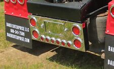 Stainless Steel Rear Center Panel with LED lights for Peterbilt, Kenworth, Mack