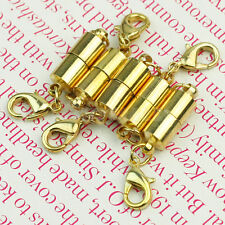 5pcs Gold Plated Metal Strong Magnetic Necklace Clasps Jewellery New Fashion