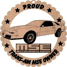 Pontiac Trans Am MSE Wood Ornament Laser Engraved Large 5 3/4 Round