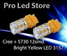 3157 3156 5730 + Cree LED FRONT & REAR Turn Signal Light Amber Yellow