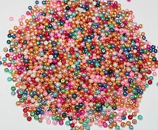 500PCS Wholesale Beads Bulk Beads Glass Mix Color Pearls Beads 4mm Assorted ~