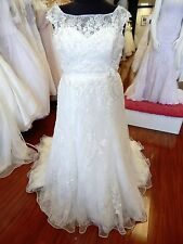 SZ 20W Alfred Angelo 239 Disney Snow White Wedding Gown Dress Ivory Lace NWT