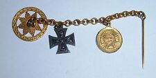 GERMAN - 2 Medal Watch Chain. 1870 Iron Cross, 1870/71 Franco-Prussian War Medal