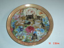 Lovely Franklin Mint Collectors Plate PRETTY PURR-FECT Cat Kitten