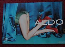 2012 Print Ad ALDO Fashion Shoes ~ Sexy Girl with Red High Heels