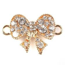 8pcs 146739 NEW Gold Rhinestone Butterfly Alloy Connector Pendant Fit Crafts C