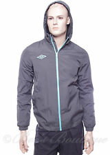Mens New Grey & Turquoise Umbro Geometra Shower Jacket Size S Small Sports Top