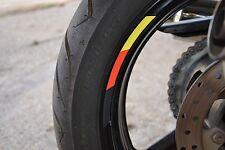 "4x Germany RIMS WHEELS VINYL STICKER STRIPES FLAG RIM FOR 17"" WHEEL MOTORCYCLE"
