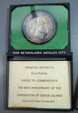 Netherlands Antilles 1973 25 Gulden Sterling Silver Proof Coin Set