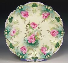 LOVELY RS PRUSSIA ROSES MOLD 82 CABINET PLATE