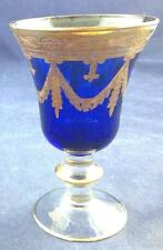 Arte Italica MEDICI COBALT Wine Glass Gold Encrusted GREAT CONDITION