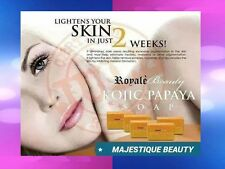 ROYALE BEAUTY AUTHENTIC  KOJIC PAPAYA SOAP 130gms  BRAND NEW & SEALED