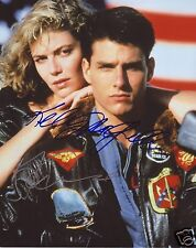 TOP GUN - TOM CRUISE & KELLY MCGILLIS AUTOGRAPH SIGNED PP PHOTO POSTER