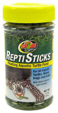 ZOO MED AQUATIC TURTLE REPTISTICKS FOOD FLOATING STICKS 1 OZ FREE SHIP IN USA