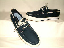 #1833 TOMMY HILFIGER MEN'S NAVY CANVAS DECK / BOAT SHOES 'TMPHILO' SZ 8M NEW!
