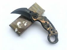 SOG New Assisted Opening Karambit Folding Game Claw Knife Outdoor Hunting Hiking