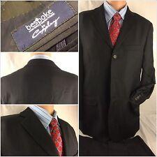Coppley Suit 38R Black 3btn 2 Vent 33x31 Pleats Bespoke EUC YGI 48rr