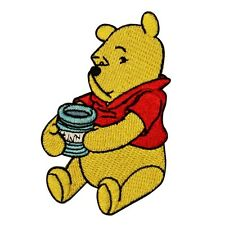 Winnie The Pooh Bear Honey Pot Patch Disney Cartoon Character Iron-On Applique
