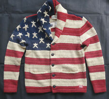 "Denim & supply ralph Lauren Châle Cardigan ""red/Cream/Blue us flag taille xl"