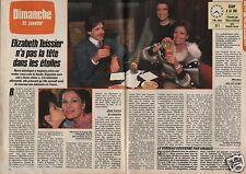 Coupure de presse Clipping 1986 Elizabeth Teissier  (2 pages)