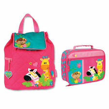 Stephen Joseph Girls Quilted Animal Zoo Backpack and Lunch Box for Kids - Bag