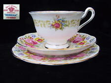 Royal Albert SERENA 3pc Avon Shaped Trio Tea Cup Saucer Side Plate 1st Eng c1935