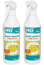 Pack of 2 x HG Grout Cleaner Ready to Use 500ml - Restores Colour of Tile Grout