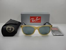 RAY-BAN WAYFARER SUNGLASSES RB4184 604340 HONEY & BLUE/SILVER MIRROR LENS 54MM