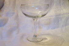 Vintage Large Clear Champagne/Wine Glass
