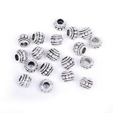 10/20/100 Pcs Tibetan Antique Silver Loose Spacer Beads Jewelry Findings 8x6mm