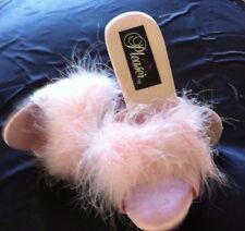 Pink Marabou  Slippers by Pleasers Size 5