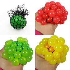 1Pcs Sensory Creative Squishy Mesh Grape Ball Squeeze Abreaction Toys Child