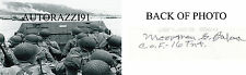 D-Day 1st Wave Big Red One, Omaha Beach, Moorman Barker RARE SIGNED 4x6 PHOTO