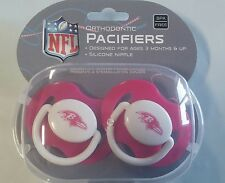Baltimore Ravens PINK Baby Infant Pacifiers NEW - 2 Pack SHOWER GIFT! girls