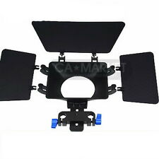 15mm rail rod Matte box  support DSLR VCR parasol for 5D II 7D 60D 600D D90 T3i