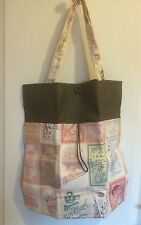 Handmade Vintage Style Foldable Shopping Bag/book Bag - NEW