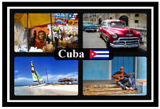 CUBA - SOUVENIR NOVELTY FRIDGE MAGNET - FLAGS / SIGHTS - BRAND NEW / GIFT